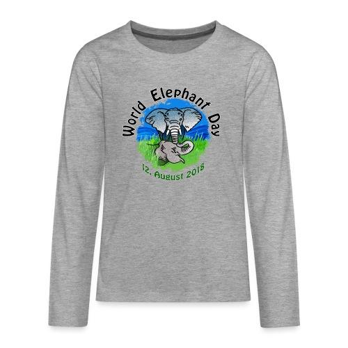 World Elephant Day 2018 - Teenager Premium Langarmshirt
