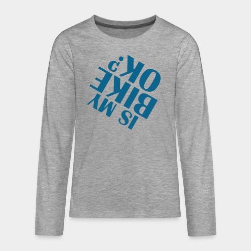 accident de vélo chute - T-shirt manches longues Premium Ado