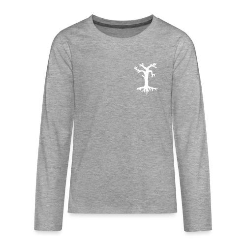 Valkoinen kelopuu - Teinien premium pitkähihainen t-paita