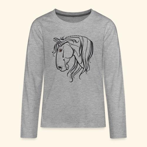Cheval espagnol (noir) - T-shirt manches longues Premium Ado
