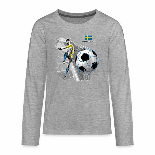 FP22F 16 SWEDEN FOOTBALL - Teinien premium pitkähihainen t-paita
