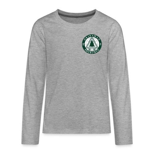 Klubmærke Traditionel placering - Teenager premium T-shirt med lange ærmer