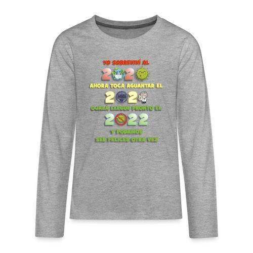 covid-19 - Camiseta de manga larga premium adolescente