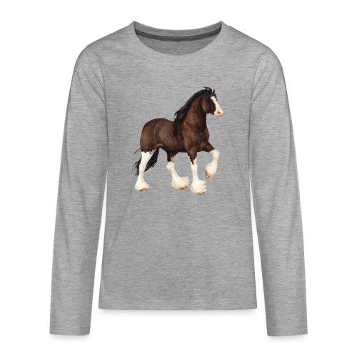 Shire Horse - Teenager Premium Langarmshirt