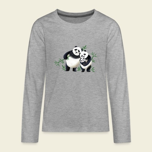 Pandafamilie Baby - Teenager Premium Langarmshirt