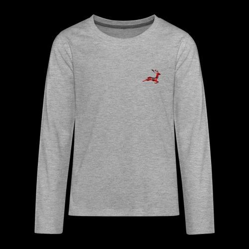 noël cerf écossais - T-shirt manches longues Premium Ado