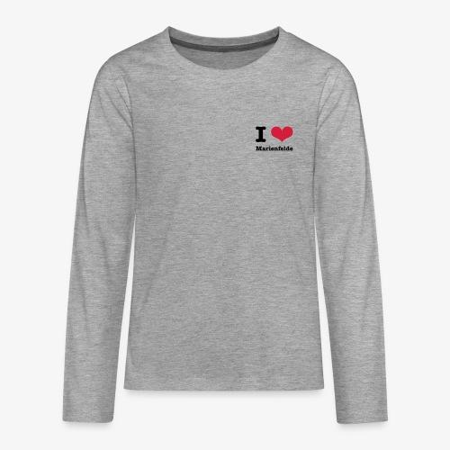 I love Marienfelde - Teenager Premium Langarmshirt