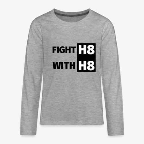 FIGHTH8 dark - Teenagers' Premium Longsleeve Shirt