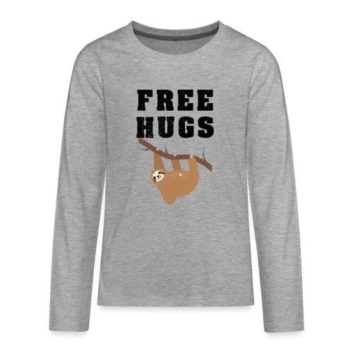 Funny Sloth Quotes - Teenager Premium Langarmshirt