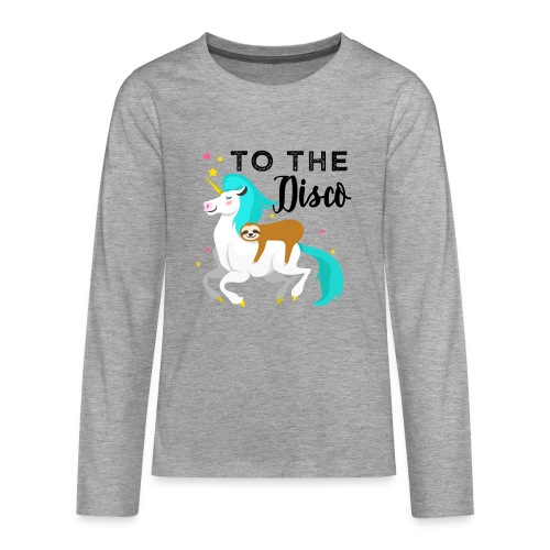 Funny Sloth Riding Unicorn - Teenager Premium Langarmshirt