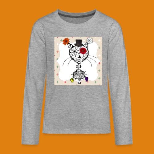cat color - Teenagers' Premium Longsleeve Shirt