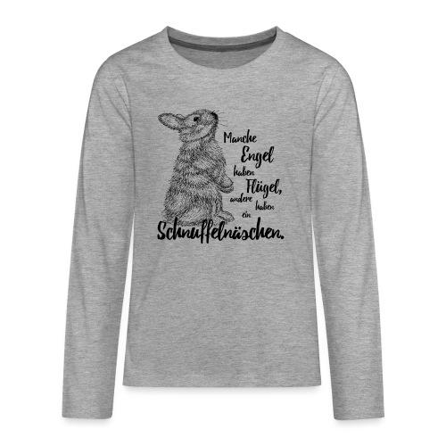Kaninchen Hasen Zwergkaninchen Engel Liebe - Teenager Premium Langarmshirt