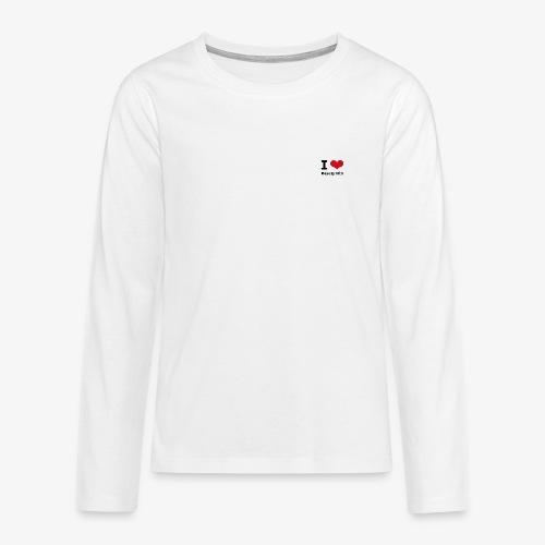 I love Beauty Hill - Teenager Premium Langarmshirt