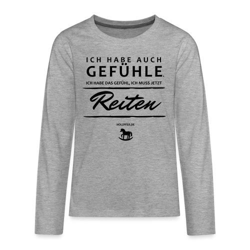 Gefühle - Reiten - Teenager Premium Langarmshirt