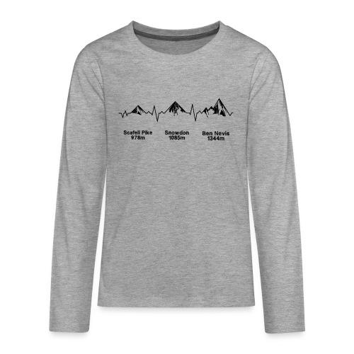 ECG Thee Peaks Light Background - Teenagers' Premium Longsleeve Shirt