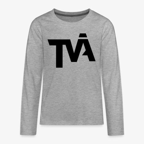 TVÅHUNDRA - Långärmad premium T-shirt tonåring