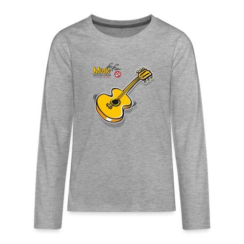 MusicForFun - heller Hintergrund - Teenager Premium Langarmshirt