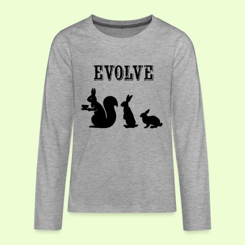EvolveBunny - Teenager Premium shirt met lange mouwen