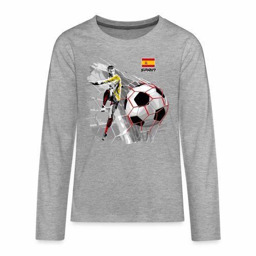 FP22F 02 SPAIN FOOTBALL - Teinien premium pitkähihainen t-paita