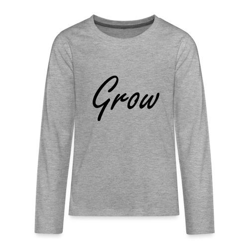 Grow - Teenager Premium Langarmshirt