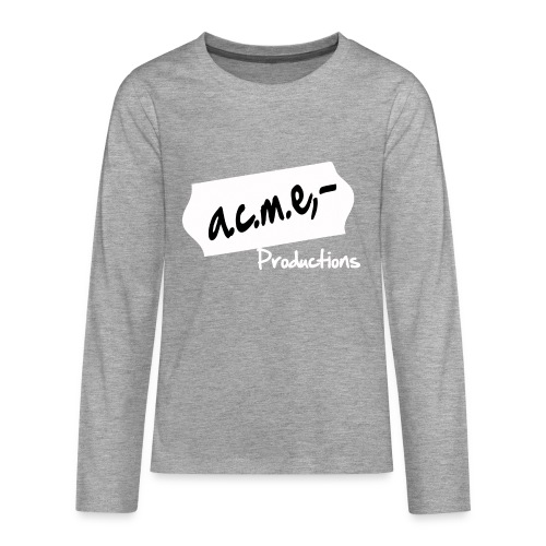 acmeproductionswhite - Teenager Premium Langarmshirt