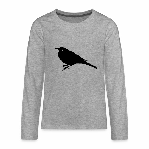 Amsel Logo - Teenager Premium Langarmshirt