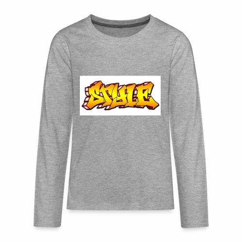 Camiseta estilo - Camiseta de manga larga premium adolescente
