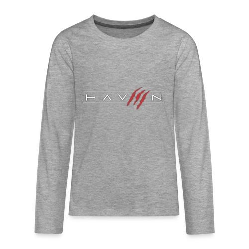Logo Wit - Teenager Premium shirt met lange mouwen