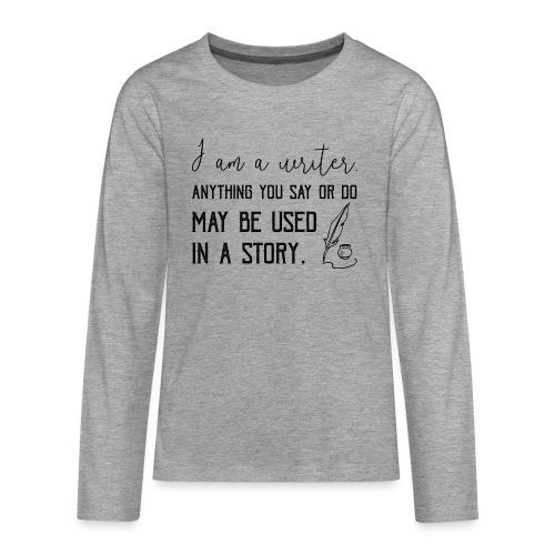 0266 writer | Author | Book | history - Teenagers' Premium Longsleeve Shirt