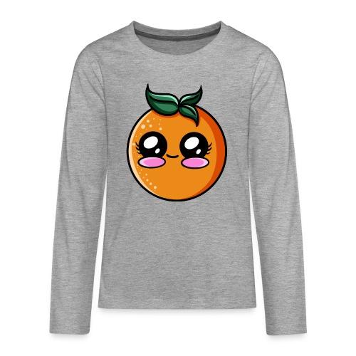 Orange Kawaii - T-shirt manches longues Premium Ado