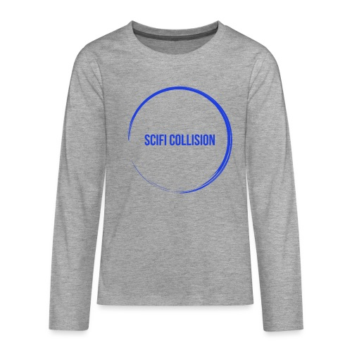 Dark Blue Logo - Teenagers' Premium Longsleeve Shirt