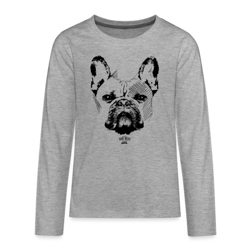 Französische Bulldogge Sketch - Teenager Premium Langarmshirt