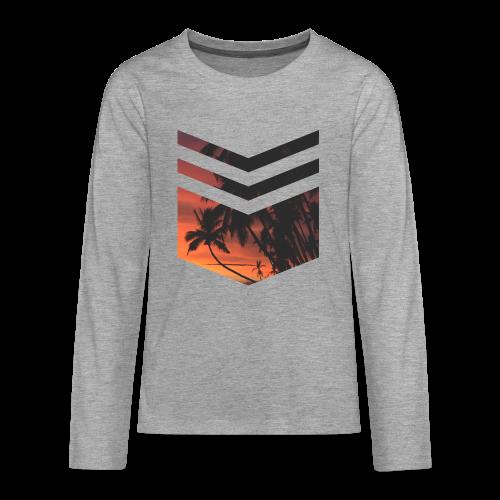 Palm Beach Triangle - Teenager Premium Langarmshirt