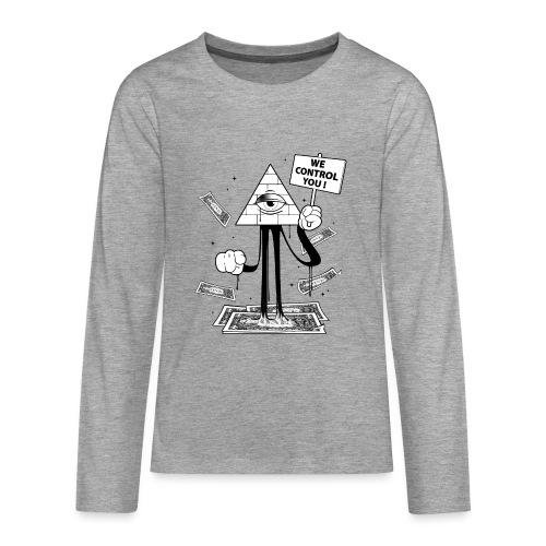 We Control You - Conspiration Design - T-shirt manches longues Premium Ado