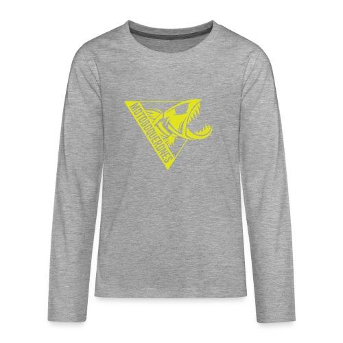 Logo Motoboquerones amarillo - Camiseta de manga larga premium adolescente