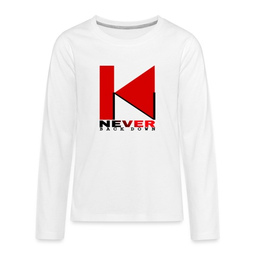 NEVER BACK DOWN - T-shirt manches longues Premium Ado