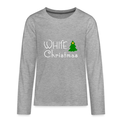 White Christmas - Teenagers' Premium Longsleeve Shirt