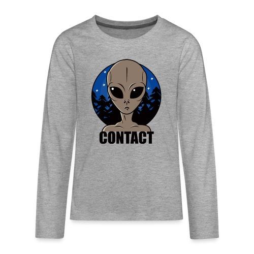 Contact Extraterrestre - T-shirt manches longues Premium Ado