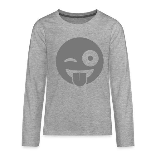 Emoji - Teenager Premium Langarmshirt