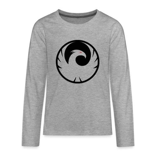 Phönix Logo Schattierung Phoenix schwarz black - Teenager Premium Langarmshirt