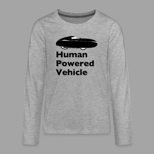 Quest Human Powered Vehicle 2 black - Teinien premium pitkähihainen t-paita