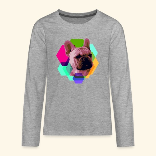 French Bulldog head - T-shirt manches longues Premium Ado