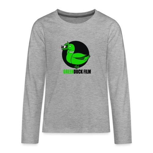 Greenduck Film Logo w. black letters - Teenager premium T-shirt med lange ærmer
