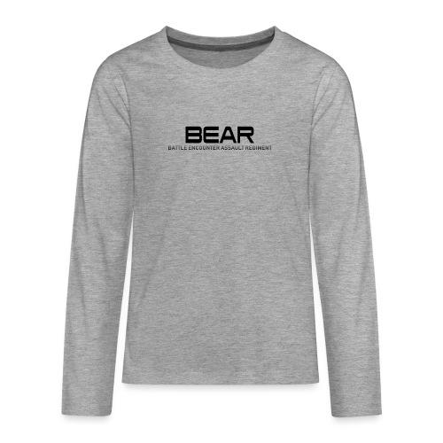 BEAR Battle Encounter Assault Regiment - T-shirt manches longues Premium Ado