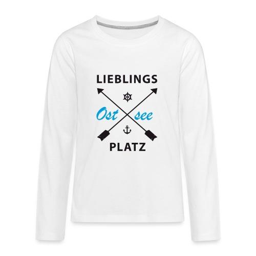Lieblingsplatz Ostsee - Teenager Premium Langarmshirt