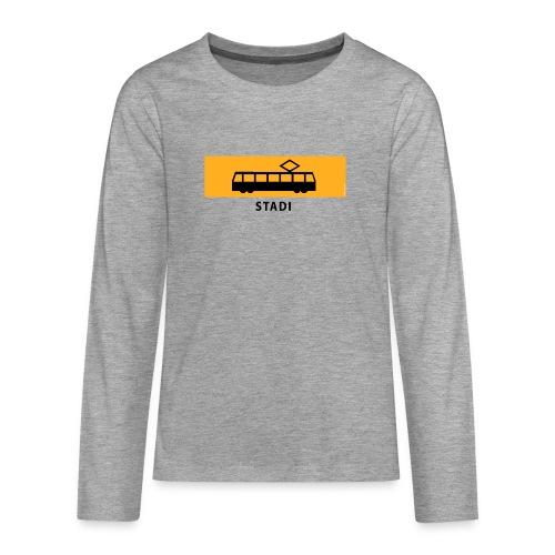 RATIKKA PYSÄKKI KYLTTI STADI T-paidat ja vaatteet - Teinien premium pitkähihainen t-paita