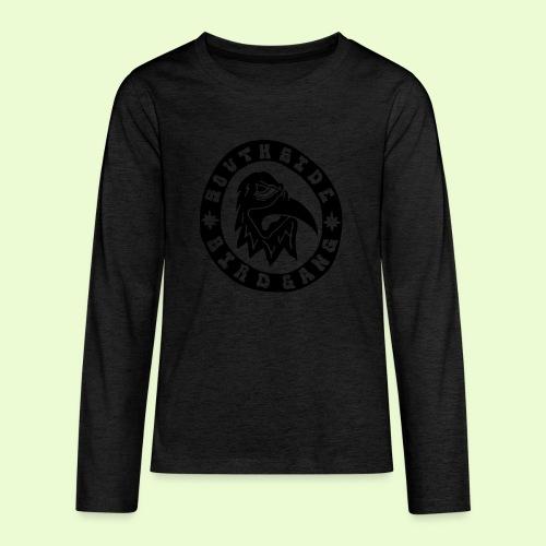 BLACK EAGLE LOGO - Teinien premium pitkähihainen t-paita