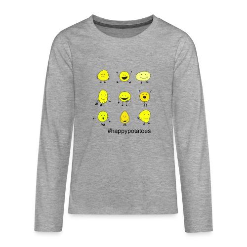 9 smilies - Teenager Premium Langarmshirt