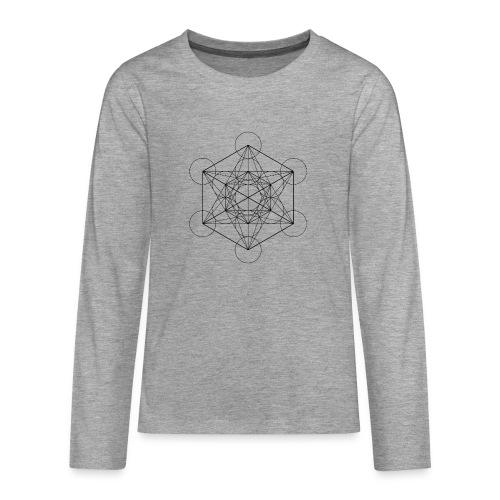 Metatrones Cube - Teenager premium T-shirt med lange ærmer