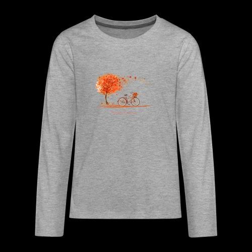 couleurs d'automne - T-shirt manches longues Premium Ado